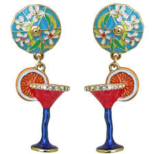pool party cocktail earrings cocktail jewelry u2013 ritzy couture by