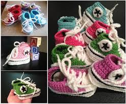 pattern crochet converse slippers diy crochet converse sneaker style slippers