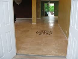 neels two thousand square travertine floor with a medallion