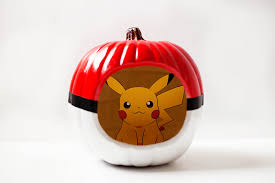 poké ball pumpkin u2014 all for the boys