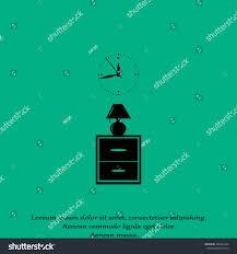 flat nightstand clock lamp living roombedside stock vector