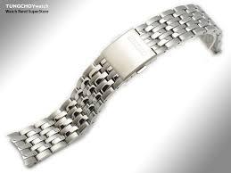 solid metal bracelet images 21mm original seiko 4a4z1 c w solid link stainless steel bracelet jpg