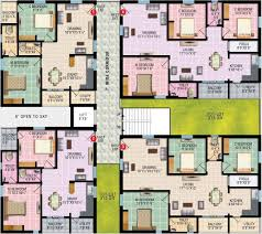 Wisteria Floor Plan by 1450 Sq Ft 3 Bhk 2t Apartment For Sale In Rv Developers Wisteria