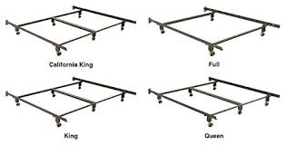 metal bed frame w 4 rug rollers u0026 no tools assembly king queen