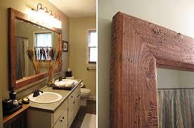 Rustic Bathroom Mirror - bath mirror frame ideas rustic crafts u0026 chic decor