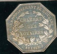 chambre des notaires de l allier notaire en vente médailles jetons ebay