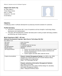 Junior Software Engineer Resume Sample by Sample Software Engineer Resume 8 Examples In Word Pdf