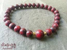 red beads bracelet images Red conch shell mantra carved beads bracelet japa mala bead jpg