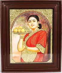 thanjavur painting of yasodha krishna poompuhar blog