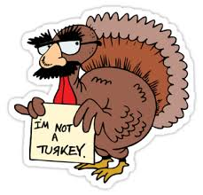 turkey stickers thanksgiving thanksgiving i m not a turkey stickers by holidayt shirts redbubble