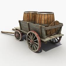 wooden cart barrel