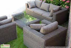 canap de jardin en r sine salon de jardin resine ludovico marron résine marrons et salon
