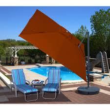 Orange Patio Umbrella by Patio Umbrellas Royal Swimming Pools