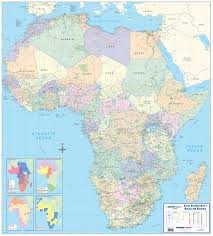Africa Map With Cities by Businessman U0027s Mining Minerals Wall Map
