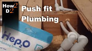 push fit plumbing how to install connect plastic water pipes in a