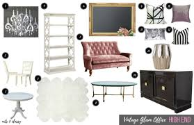 high low vintage glam home office designs arts and classy