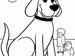 clifford the big red dog coloring page printable for 487246