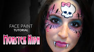 monster high halloween face paint how to face paint youtube