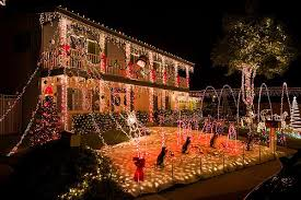 christmas light show los angeles los angeles woman has 102 christmas trees including in the bathroom