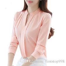 business blouses 2018 2018 chic sleeve chiffon blouse shirt slim fit v