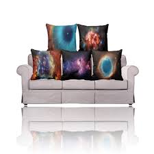 buy universe space charming scenery printed throw pillow covers