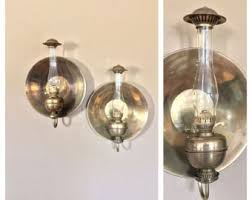 Hurricane Candle Wall Sconces Brass Wall Sconce Etsy