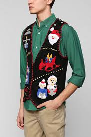 urban outfitters urban renewal vintage ugly christmas sweater vest