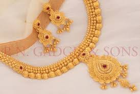 gold wedding necklace set images Xifu international gold wedding jewellery design competition 2017 jpg