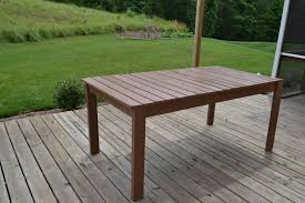 Outdoor Patio Table Plans by Outdoor Dining Table Diy Video And Photos Madlonsbigbear Com