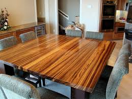 woodworking dining room table zebrawood wenge table by devos woodworking modern dining room