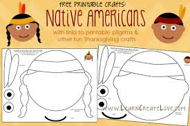 printable thanksgiving crafts printable native american crafts