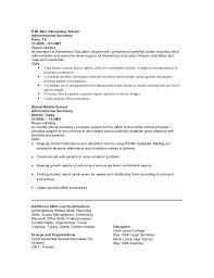 Principal Resume Template Secretary Resume Secretary Administrative Assistant To