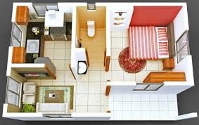appartement avec une chambre 50 plans en 3d d appartement avec 1 chambres plan gratuit 3d et plans