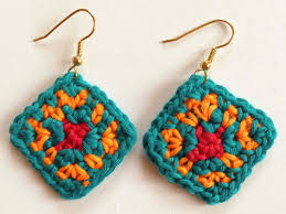 beginner earrings crochet rockstar the colors of africa crochet earrings