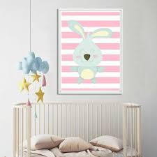 poster chambre bebe décoration poster toile lapin déco chambre enfant bébé trendisy