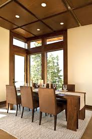 furniture fascinating minimalist smal dining room with brown fascinating minimalist smal dining room with brown modern dining chair and walnut wood dining table and white fabric rug new 2017