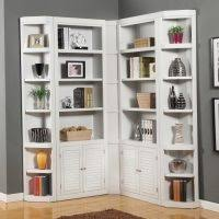 Modern White Bookshelves by Furniture Classy White Stained Oak Wood Bookshelf Cabinet With