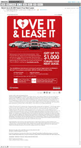 toyota lease love it u0026 lease it racreates