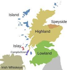 Scotch Whisky Map The Distinctive Flavors Of Scotland U0027s Five Scotch Regions