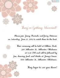 wedding ceremony invitation wording invitation wording for a casual wedding