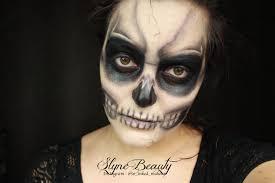 skeleton halloween make up