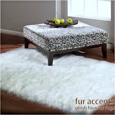 Area Rug White Faux Fur Rugs White Roselawnlutheran