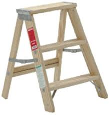 wood step ladders rustic folding decorative wooden step ladder