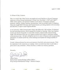 Reference Letter For A Student From A Teacher Reference Letter For Student From English Teacher
