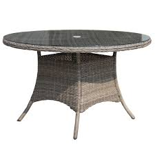 rattan dining room furniture bentley garden round rattan dining table buydirect4u