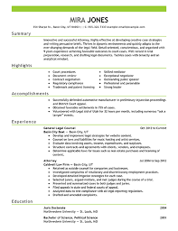 example of student cv for summer job