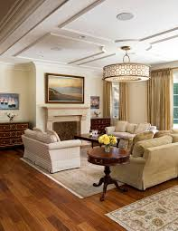 Pendant Lights For Living Room San Francisco White Ceiling Living Room Traditional With Gold Drum