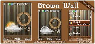 nokia c2 01 themes with tones brown wall live theme for nokia x2 c2 01 240 320 updated