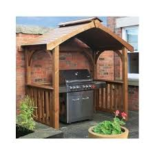 grill gazebo outdoor wooden patio shade deck bbq shelter pavillion