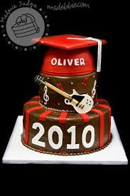 Cake Walk Rock On Guitar Graduation Cake Could Customize For